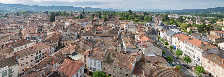 Vue sur la ville d'Ambert